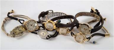 A Group of Ladys Wrist Watches