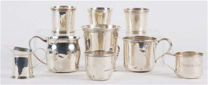 Group of American sterling silver table items