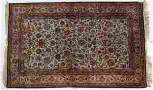 Silk Keshan rug, approx. 3.4 x 5.3