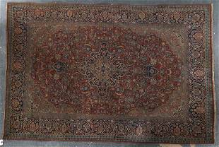 Antique Keshan rug, approx. 4.4 x 6.6