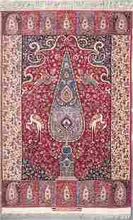 Fine Ispahan rug, approx. 4.10 x 7.6