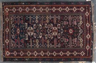 Antique Kuba rug, approx. 5 x 7.4