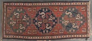 Antique Kazak runner, approx. 3.11 x 8.10