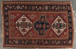 Antique Kazak rug, approx. 5.4 x 7.1