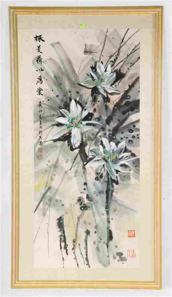 Chinese School, 20th c. gouache on rice paper