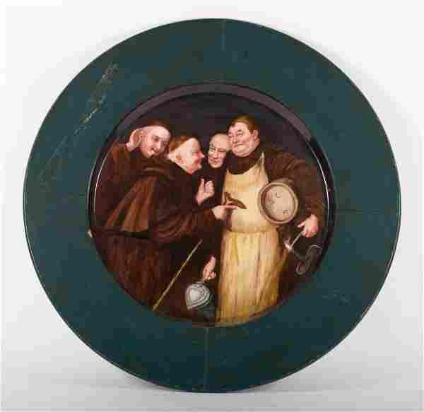 KPM painted porcelain tondo