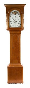 American Chippendale cherrywood tall-case clock