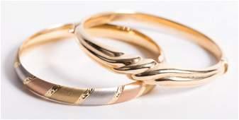 Two Lady's Bangle Bracelets