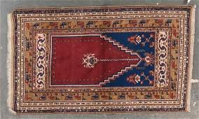 Turkish prayer rug, approx. 4 x 6.8