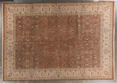 Indo Tabriz rug, approx. 10.1 x 14.3
