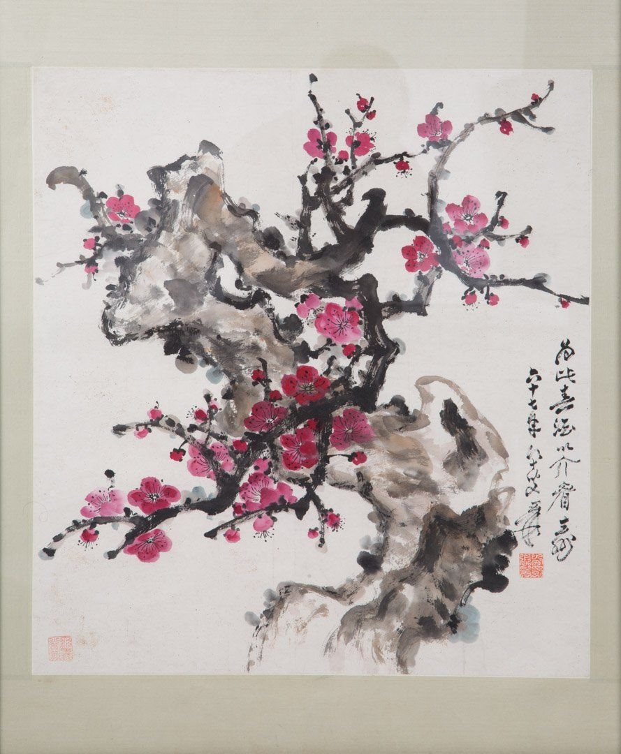 Chinese School, 20th c. Gouache on pith paper