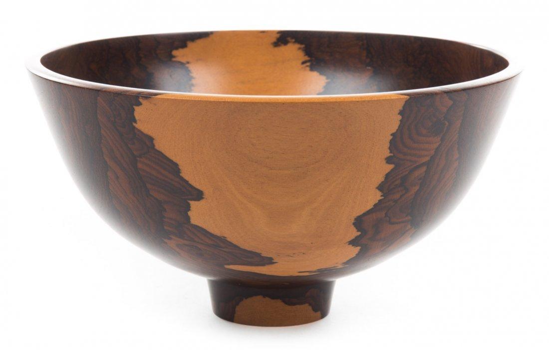Bob Stocksdale, Ziricote from Belize, wood vessel