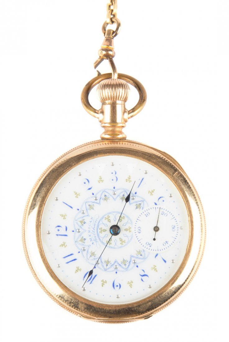 An American Waltham Pocket Watch and chain