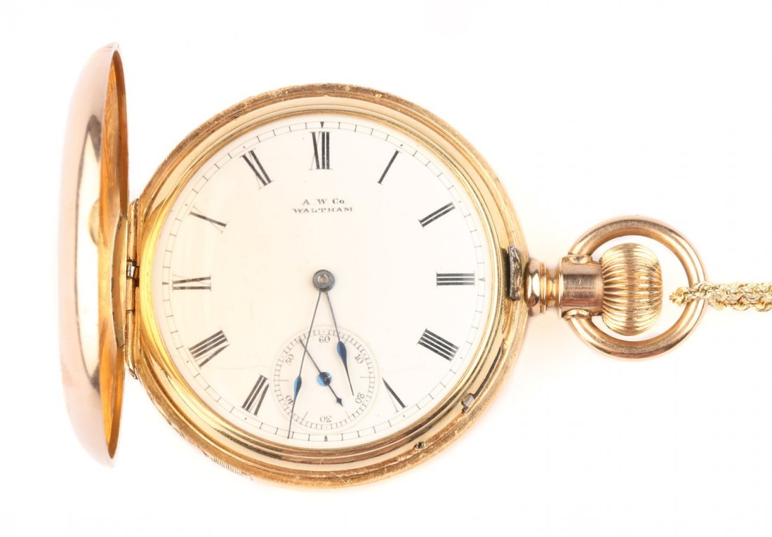 An American Waltham Pocket Watch with Chain