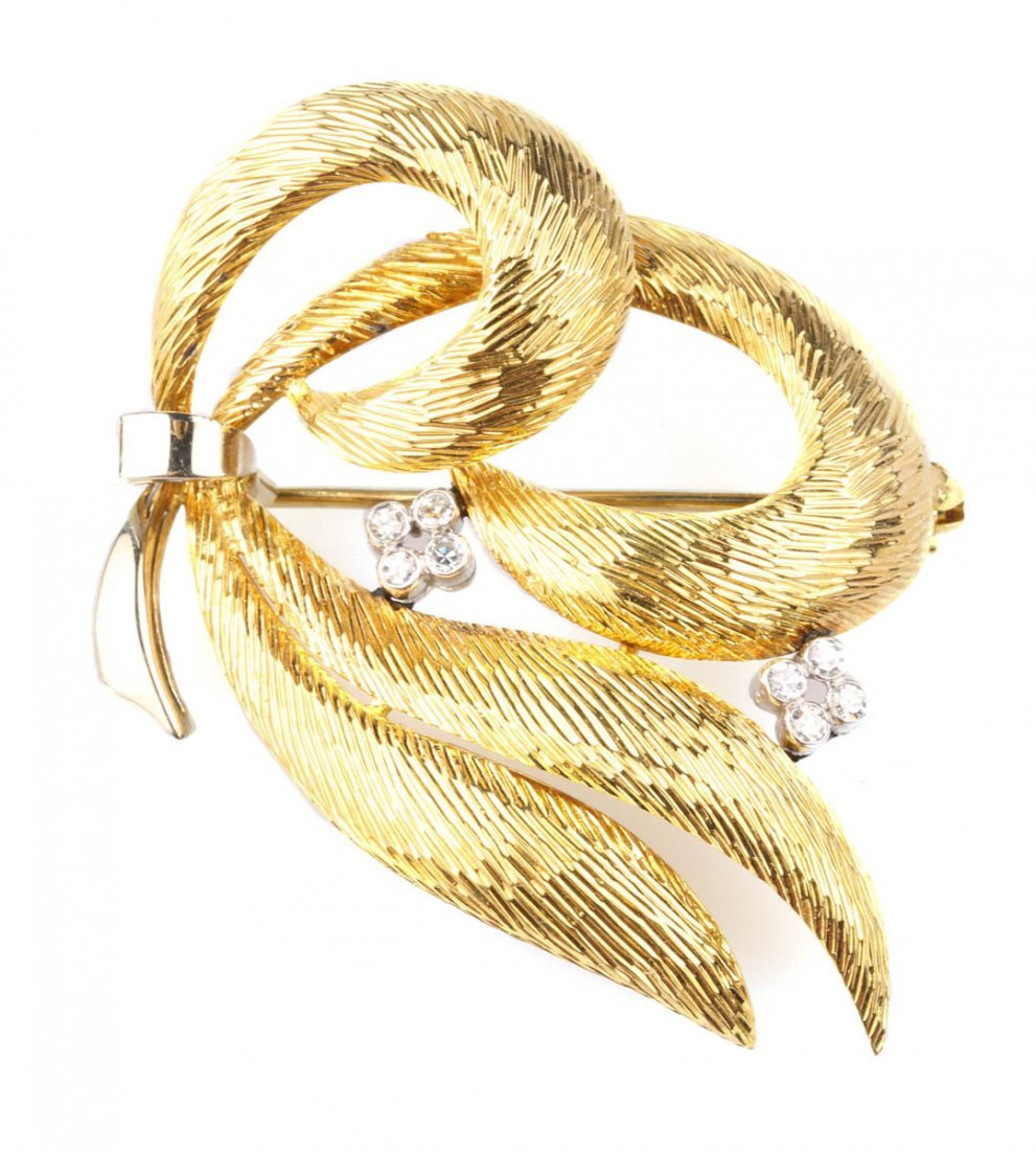 A Lovely Diamond and Gold Brooch