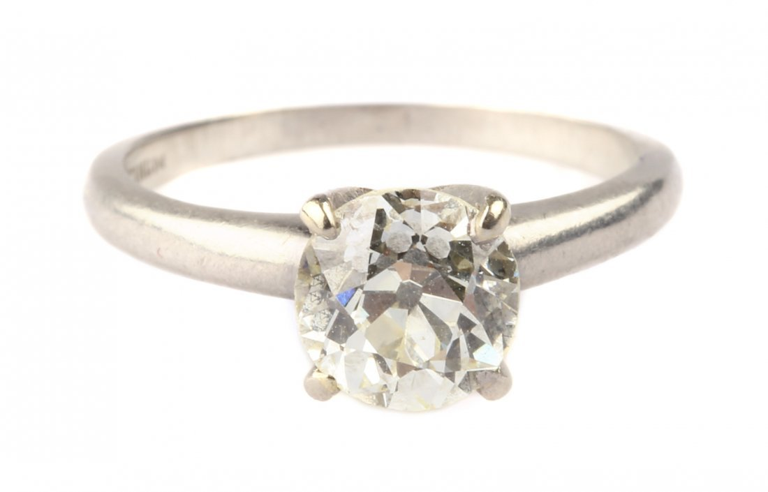 A Lady's Diamond Solitaire Ring