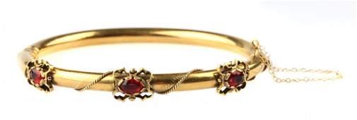 A Victorian Garnet Bangle Bracelet