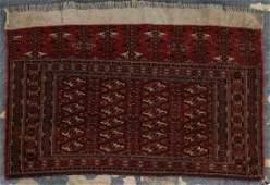 Fine antique Tekke saddle bag, approx. 2.8 x 4.2