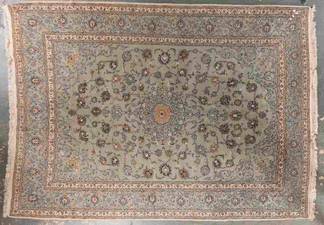 Persian Keshan carpet, approx. 8.8 x 11.9