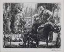 """John Sloan. """"Kraushaar's,"""" etching"""