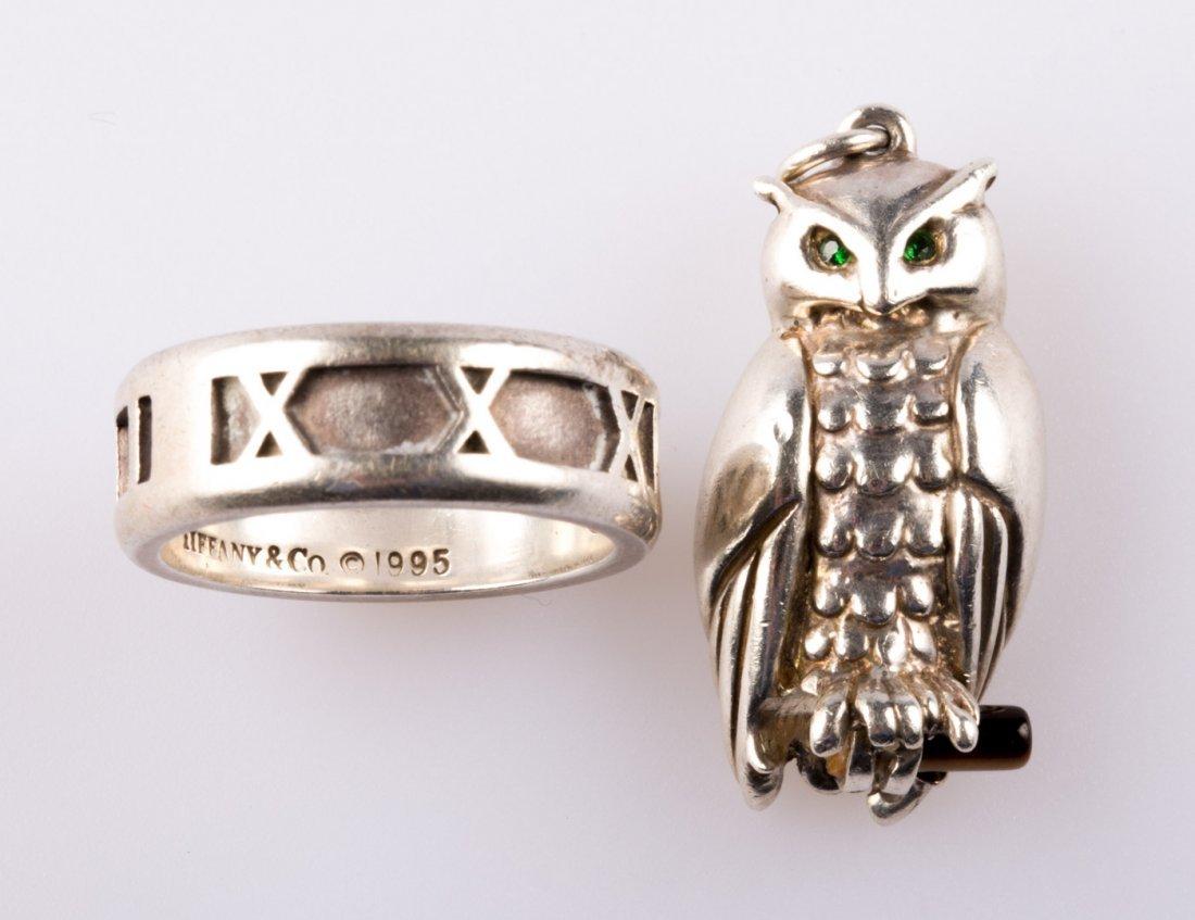 A Tiffany & Co. Atlas Ring & Charm