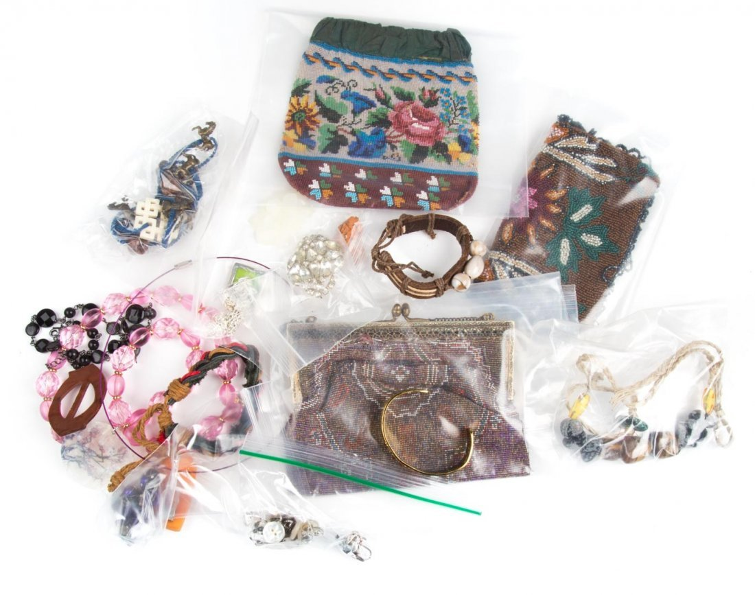 An Assortment of Vintage Beaded Bags