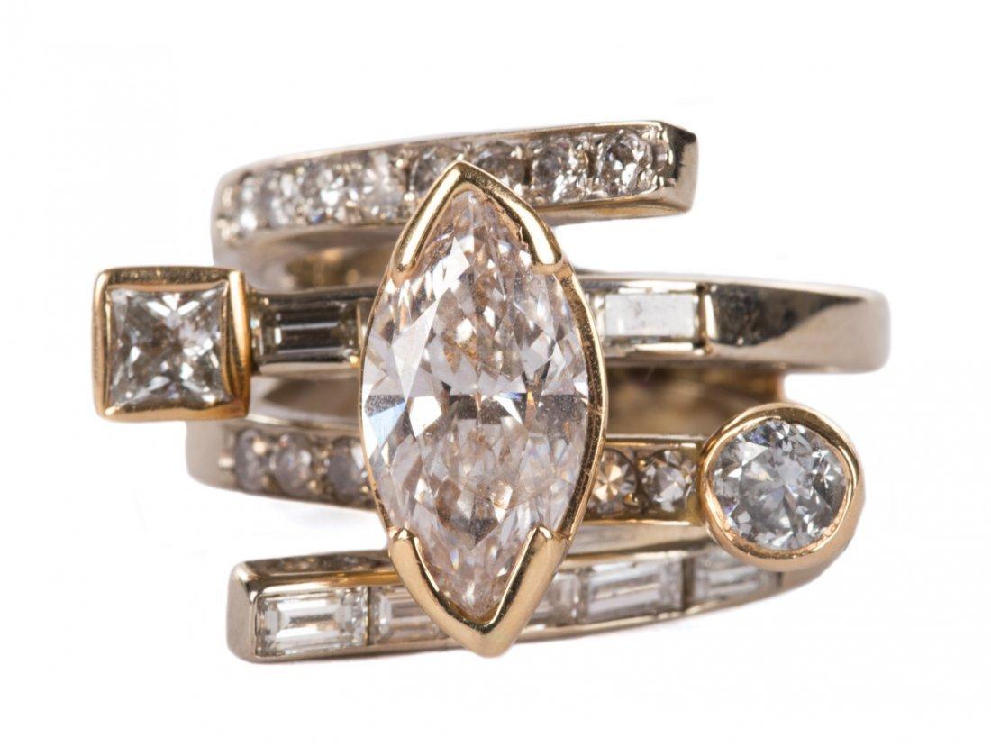 A Stunning Contemporary Diamond Ring