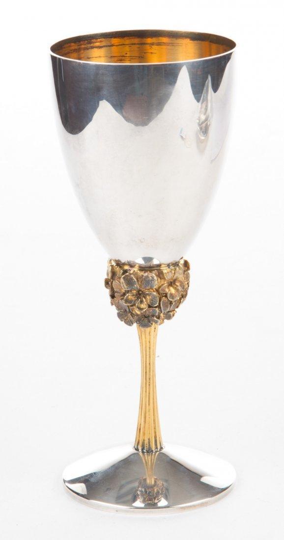 Stuart Devlin sterling & silver- gilt wine goblet - 3