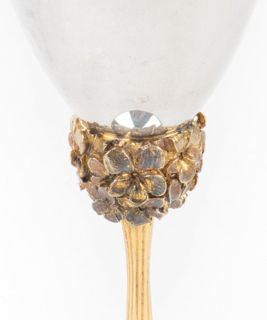 Stuart Devlin sterling & silver- gilt wine goblet - 4
