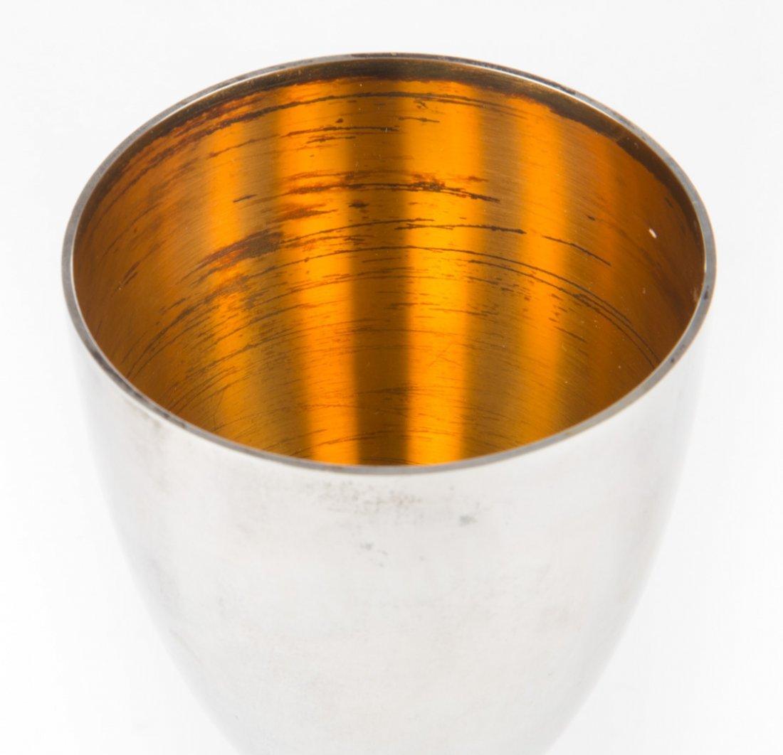 Stuart Devlin sterling & silver- gilt wine goblet - 5