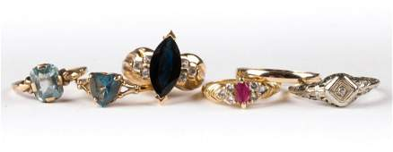 A Selection of Ladies' Rings