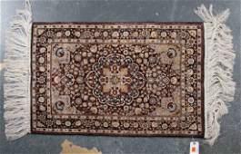 Fine silk Sino Persian rug approx 2 x 3
