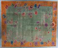 Antique Nichols Chinese rug, approx. 8 x 10