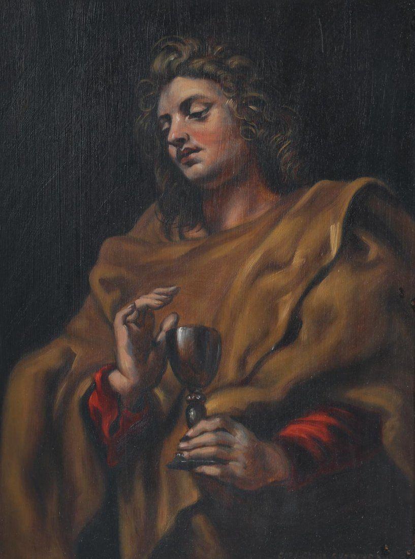Carol Lee Sheppard. St John, oil on board