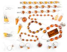 A Collection of Amber Jewelry