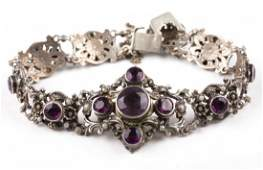 A Victorian Amethyst and Seed Pearl Bracelet