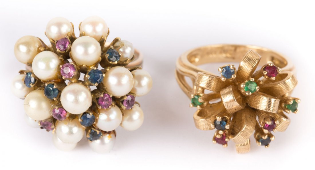 Two Lady's Cluster Rings