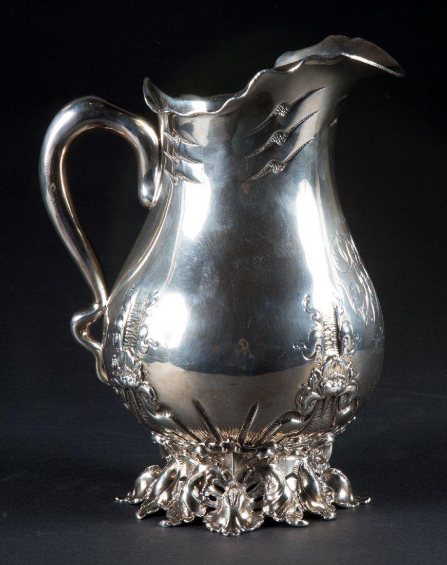 Art Nouveau sterling silver water pitcher