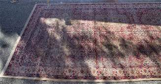 Antique Lavar Kerman carpet, approx. 10 x 19