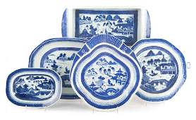 Five Chinese Export Canton porcelain articles
