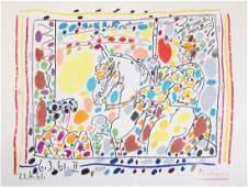 """Pablo Picasso """"Le Picador II,"""" color lithograph"""
