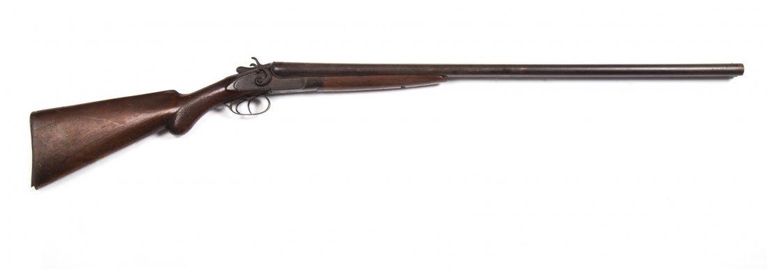 W.H. Greenfield double barrel percussion shotgun