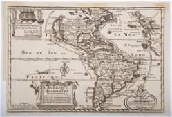 Map De Fer North  South America 1717