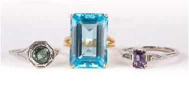 A Trio of Ladies Rings