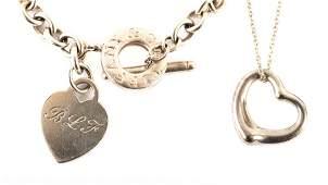 A Tiffany & Co. Charm Bracelet and Necklace