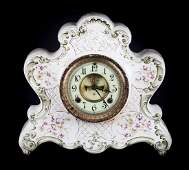 Ansonia ceramic cased mantel clock