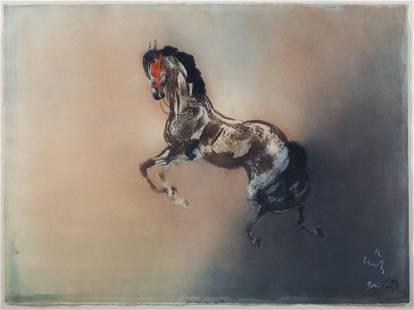 Kaiko Moti. Prancing Horse, aquatint