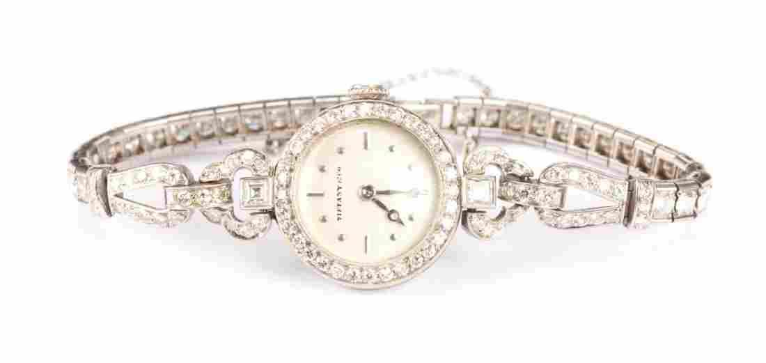 Tiffany & Co. Art Deco Diamond & Platinum Watch