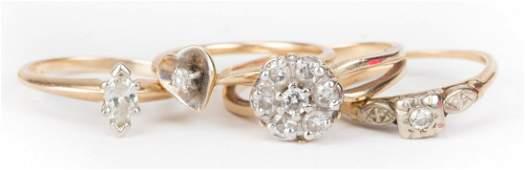 Four Ladys Diamond Rings