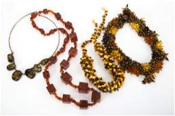 Four Turkish Amber Necklaces